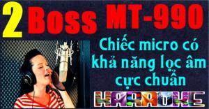 Micro không dây Boss MT-990 sản phẩm mới  thiết kế 4 anten thu phát.