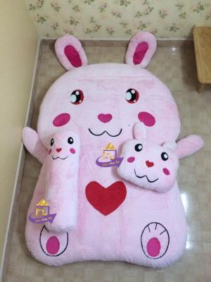 Nệm Thú Bông cao cấp Nhật Bản Thỏ Hồng 140x190cm
