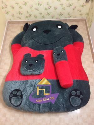 Nệm hình thú cao cấp Nhật Bản Gấu Pooh 140x190cm
