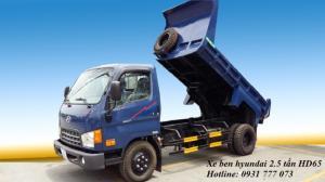 Xe ben Hyundai HD65 Đô Thành - Xe ben Hyundai 2,5 tấn - Hỗ trợ mua xe trả góp.
