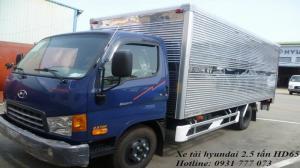 Xe tải Hyundai HD65 Đô Thành - Xe tải Hyundai 2,5 tấn - Hỗ trợ trả góp lãi suất thấp.