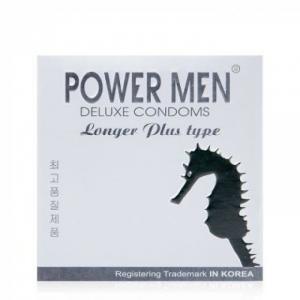 Bao cao su Powermen Longer thương hiệu Hàn Quốc  (Hộp 3 Cái )