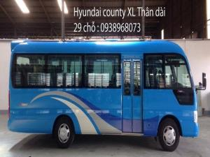 Xe khách 29 chỗ, xe Hyundai County 29 chỗ, giao xe trong vòng 5 ngày.