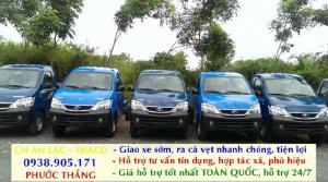 Xe tải 990kg thây thế xe ba gác, xe thí điểm Thaco Towner990 giá 216tr chưa thùng. Hỗ trợ trả góp,