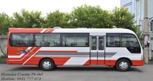 Hyundai County 29 chỗ nhập khẩu, chỉ cần trả trước 200 triệu, giao xe trong vòng 5 ngày