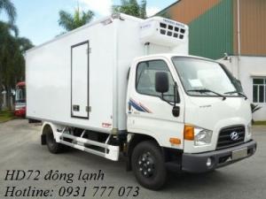 Xe tải Hyundai HD72 Đông Lạnh - Hỗ trợ giao xe ngay - Hotline: 0931 777 073 (24/24)