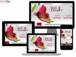VINADESIGN thiết kế website cho Di tích Địa đạo Củ Chi - diadaocuchi.com