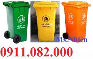 Sỉ lẻ thùng rác công cộng các loại, thùng rác 120 lít giá rẻ