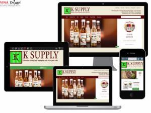 VINADESIGN Thiết kế website Chuyên cung cấp nguyên liệu pha chế K SUPPLY - NguyenLieuGiaiKhat.com