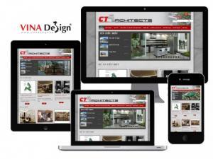 VINADESIGN thiết kế website cho Công ty TNHH Khảo sát thiết kế và tư vấn xây dựng C.T - ctvn.com.vn