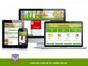 VINADESIGN thiết kế website cho Công ty TNHH MTV Lương Thực Thành phố Hồ Chí Minh - foodcosa.vn