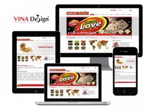VINADESIGN thiết kế website cho Công ty TNHH Thực phẩm Dân Ôn - DanOnFoods.com