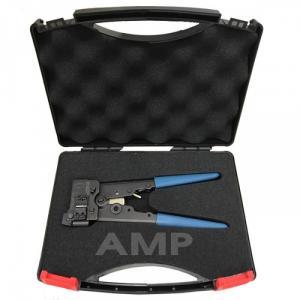 KÌM BẤM MANG AMP CAT 6 Hãng sản xuất AMP Part number: 790163 – 5 Hand Tool, w/Die Set, Cat6, RJ45 Mod Plug, OD 6-7mm. Kìm bấm đầu nối cáp chuẩn Cat 6 có điểm đặc trưng nổi bật là sự kết hợp giữa một thân kềm, môt tay cầm và một hàm kẹp cố định (stationary jaw), một hàm kẹp di động, và một tay cầm di động, và một hệ thống bánh răng điều chỉnh được, tất cả tạo nên cây kềm hoàn chỉnh. Kềm bấm đầu nối chuẩn Cat 6 bấm được nhiều loại cáp Cat 6 có kích cỡ dây khác nhau, tương ứng với các die-set khác nhau