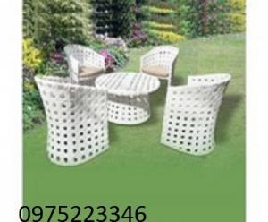 Bàn ghế nhựa giả mây sân vườn, phòng máy lạnh giá tốt nhất