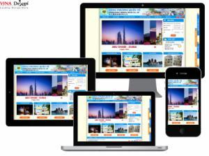 VINADESIGN Thiết kế website Công ty TNHH Du lịch Đông Phương Quốc Tế - DongPhuongQuocTeTravel.com