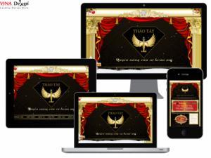 VINADESIGN Thiết kế website Dịch vụ chăm sóc sắc đẹp Thảo Tây - ThaoTay.com