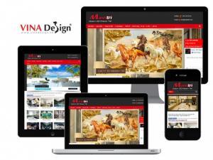 VINADESIGN thiết kế website cho Công Ty TNHH Trang Trí Nội Ngoại Thất Mạnh Trí - Gach3dManhTri.com (Gạch 3D)