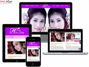 VINADESIGN Thiết kế website make up Hiền Trang - TrangDiemCoDauDep.com