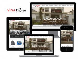 VINADESIGN thiết kế website cho Công ty TNHH Balo Túi Xách - BaloTuiXach.vn