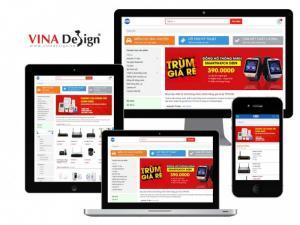 VINADESIGN thiết kế website cho Công ty CP đầu tư sản xuất và thương mại Vạn Lộc - VinhBaoDigital.com