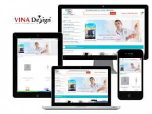 VINADESIGN thiết kế website cho hệ thống dụng cụ Y khoa Tiến Dũng - YKhoaTienDung