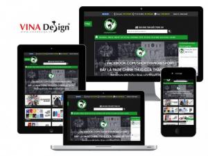 VINADESIGN thiết kế website cho Thằng Bé Sport - ThangBeSport.com
