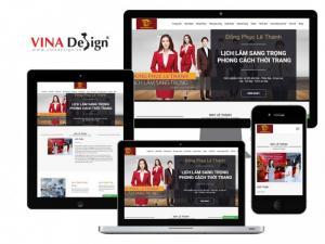 VINADESIGN thiết kế website cho Công ty TNHH XNK Lê Thành - MayLeThanh.com