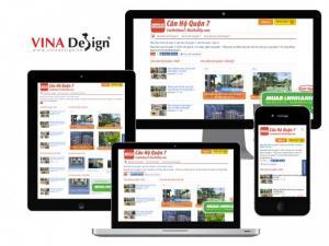 VINADESIGN thiết kế website bất động sản cho Nhà Đất VIP - CanHoQuan7.NhaDatVip.com