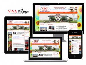 VINADESIGN thiết kế website cho Công ty Quản lý và kinh doanh chợ Bình Điền - BinhDienMarket.com.vn