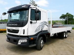 Xe tải Daewoo 3 chân Prima cầu rút.