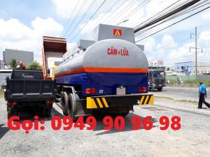 Bồn Hino 3 chân chở xăng dầu