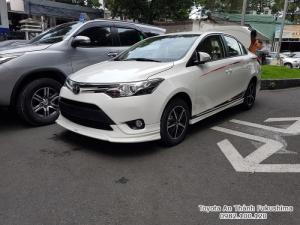Ưu đãi Toyota Vios 1.5G TRD 2017 Số Tự Động màu Trắng. Nhận Xe Chỉ Cần 100Tr. Trả 11tr/tháng Trong 7 Năm