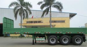 Sơ Mi Rơ Moóc Tải (Chở Container),Sàn 3 Trục,9m,31.8 Tấn, Doosung Dv-Lsks-30Da-1,40 Feet,Thành Lửng.