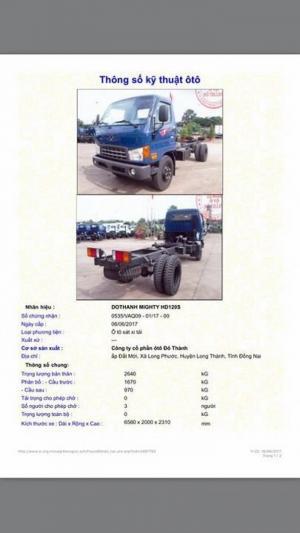 Xe 8 tấn HD120s - Giá xe 8 tấn rẻ nhất - Xe Hyundai 8 tấn HD120s thùng mui bạt