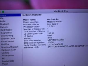 Bán Macbook Pro Retina - Intel core i7 - màn hình 15,4 inch 2012 giá 20tr