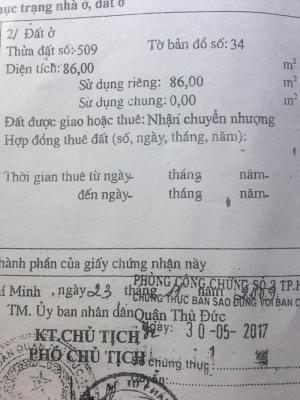 Bán Nhà nát hxh. đường Số 2. P.Tam Phú Thủ...