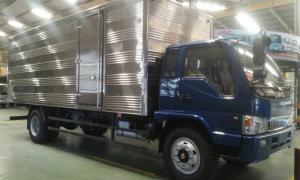 Bán xe tải Jac 8.4 tấn thùng mui bạt thùng dài tới 7m3 , xe tải công nghệ faw máy xanh mạnh mẽ .