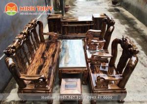 Bàn ghế phòng khách - Quốc đào tay 10 bộ 6 món gỗ tràm tại xưởng