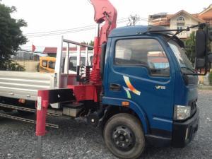 Xe tải Veam 5 tấn , gắn cẩu unic 340 4 khúc mới 100% sẵn