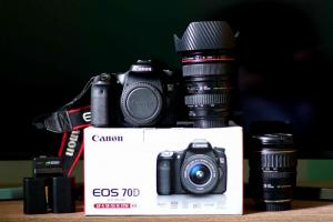 Bán Canon 70d Fullbox tặng pin và bán Len...