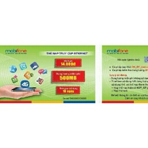 Thẻ cào data 4G Mobifone khuyến mãi dung lượng