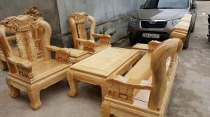 Bàn ghế phòng khách - Minh quốc voi tay 12 gỗ sồi nga tại xưởng