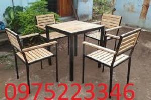 Ghế gỗ cafe nhựa giả mây dành ghế gỗ cafe giá rẻ nhất