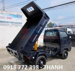 xe tải ben màu xanh