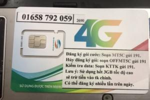 Sim 4G Viettel 90GB/thang