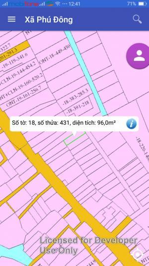 Chính chủ bán 2 lô đất thổ cư 100% đường Võ Thị Sáu, xã Phú Đông, nằm cạnh Phú Mỹ Hưng