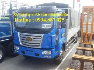 Bán xe tải faw 9.6 tấn - 9t6 - 9.6 tân nhập...