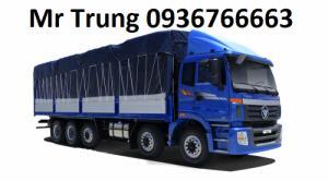 xe tải 9 tấn thùng mui bạt tại Hải Phòng , màu xanh