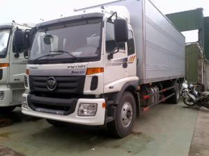 Xe tải 9 tấn Thaco Auman thùng kín , 1 cửa hông , màu trắng tại Hải Phòng