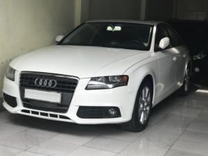 Bán Audi A4 2.0 TFSI màu trắng đời 2009  đăng ký 2012 bản full
